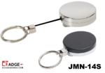 Metalen jojo (43 x 10 mm) met brede stevige riemclip, dik 85 cm nylon koord & 30mm sleutelring voor intensief dagelijks geb