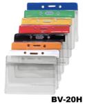 Zachte vinyl kaarthouder met gekleurde strook voor snelle herkenning kaart horizontaal gedragen