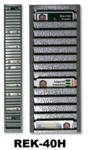 Geheel metalen wand ID kaartenrek met 40 vakken, ideaal voor tijdregistratie kaarten of ID kaarten horizontaal (liggend) in op