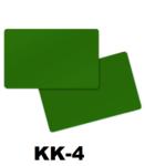 Solid groen dubbelzijdig gekleurde kunststof PVC kaart in creditkaart formaat. dikte 0.76 mm