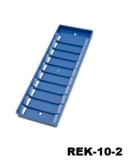 Rek-10 Kunststof pasjesrek geschikt voor 10 kaarten blauw