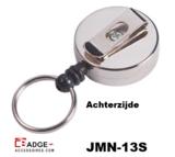Metaal jojo Mini 30 mm sleutelring achterzijde