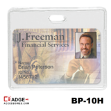 Proximity vinyl badgehouder horizontale draagwijze met kaart