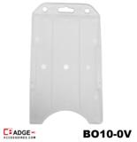 Mat transparanten verticale semi-harde kunststof kaarthouder met open voorzijde zodat uw identiteit- of bedrijfskaart goed zich
