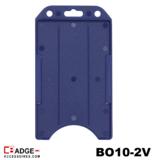 Verticale semi-harde kunststof kaarthouder met open voorzijde zodat uw identiteit- of bedrijfskaart goed zichtbaar is. blauw