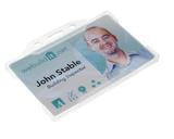 Zeer licht van gewicht semi-harde Mat transparant kunststof kaarthouder met open voorzijde zodat uw identiteit- of bedrijfskaar