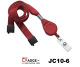 Combinatie van badge-jojo en lanyard rood