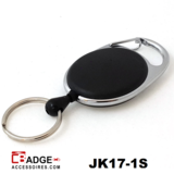 Karabijn jojo solid zwart sleutelring