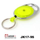 Karabijn jojo doorschijnend geel sleutelring