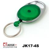 Karabijn jojo doorschijnend groen sleutelring