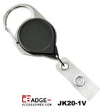 Premium Karabijn jojo ZWART met karabijn-haak voorzien van extra lang nylon koord van 91.5 cm.