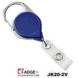 Premium Karabijn jojo BLAUW met karabijn-haak voorzien van extra lang nylon koord van 91.5 cm.