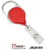 Premium Karabijn jojo ROOD met karabijn-haak voorzien van extra lang nylon koord van 91.5 cm.