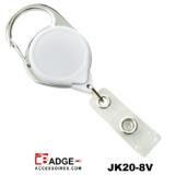 Premium Karabijn jojo WIT met karabijn-haak voorzien van extra lang nylon koord van 91.5 cm.