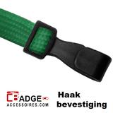 Lanyard 10 mm brede kunststof haak veiligheidssluiting groen_