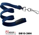 10 mm breed lanyard voorzien van veiligheidssluiting en metalen draaihaak marine blauw