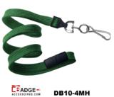 10 mm breed lanyard voorzien van veiligheidssluiting en metalen draaihaak groen