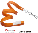 10 mm breed lanyard voorzien van veiligheidssluiting en metalen draaihaak oranje