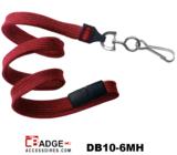 10 mm breed lanyard voorzien van veiligheidssluiting en metalen draaihaak rood