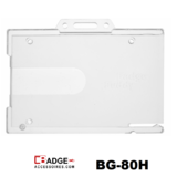 Badgehouder Buddy, glasheldere voorzijde, vrijwel onbreekbaar geschikt voor 1-2 kaarten. kaartborging voorkomt kaartverlies