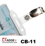 Bretel badge-clip versterkt bandje met houder