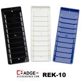 Rek-10 Kunststof pasjesrek geschikt voor 10 kaarten zwart, blauw en wit