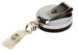 Metaal jojo zwart/chroom staalkabel achterzijde versterkt bandje