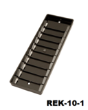 Rek-10 Kunststof pasjesrek geschikt voor 10 kaarten zwart