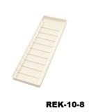 Rek-10 Kunststof pasjesrek geschikt voor 10 kaarten wit