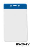 Color Top verticale vinyl kaarthouder BLAUW