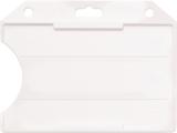 Mat transparanten standaard semi-harde kunststof badgehouder met open voorzijde zodat uw kaart goed zichtbaar is. Kaart wordt h