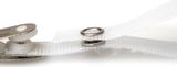 Drukknopje vezelversterkt bandje dicht voorzien van een krokodillen clip. Lengte circa 70 mm.