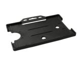 Zeer licht van gewicht semi-harde zwart kunststof kaarthouder met open voorzijde zodat uw identiteit- of bedrijfskaart goed zic