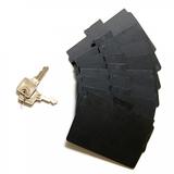 Veilige opbergbox met vergrendeling voor plastic kaarten. Leverbaar met 8 verdelers en twee sleutels. Ideaal om veilig te trans