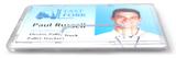 Mat transparant harde kunststof kaarthouder ter bescherming van betaalkaart, identiteitskaart of rijbewijs voorzien van een dui