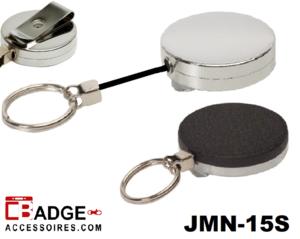 Metaal Jojo Maxi (52 x 10 mm) nylon koord & sleutelring