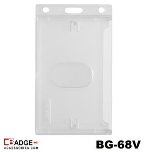 Badge CK Standaard mat transparant verticaal