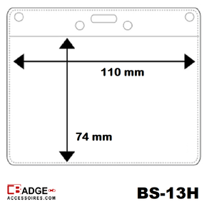 Vinyl badge soft 74(H) x 110(B) mm. horizontaal
