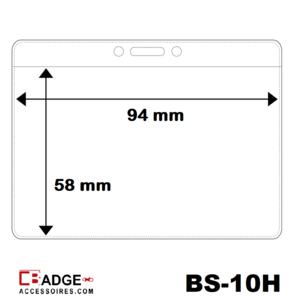 Vinyl badgehouder soft 1 creditkaart formaat kaart horizontaal