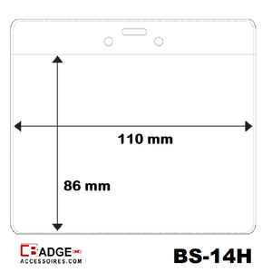 Vinyl badge soft horizontaal (86 X 110 mm)