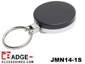 Metaal Jojo Pro nylon koord & sleutelring zwart/chroom