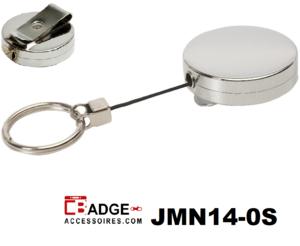 Metaal Jojo Pro nylon koord & sleutelring geheel chroom