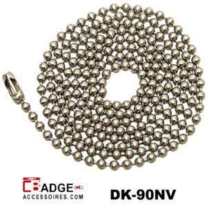 90 cm afsluitbare kogeltjes ketting nikkel-vrij