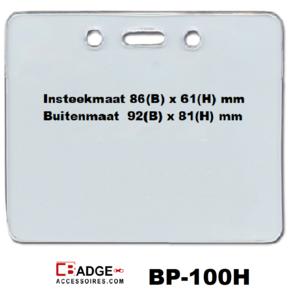 Vinyl badge proximity afsluitbaar extra koordgaten horizontaal