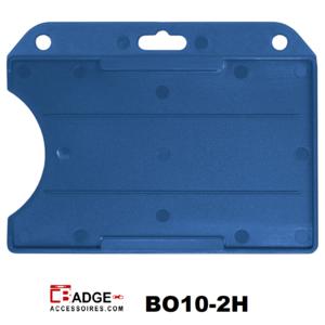Badgehouder standaard open horizontaal blauw