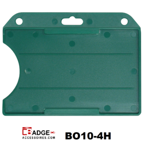 Badgehouder standaard open horizontaal groen