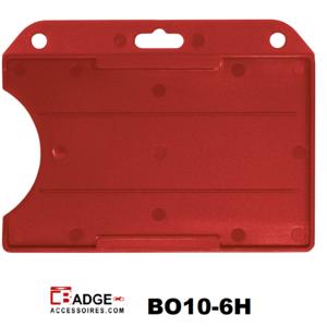 Badgehouder standaard open horizontaal rood