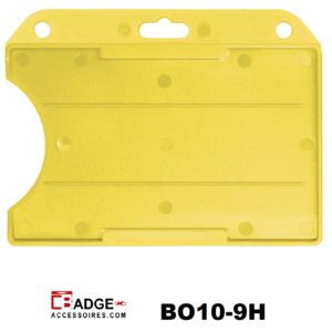 Badgehouder standaard open horizontaal geel