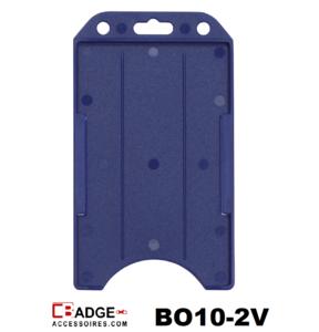 Badgehouder standaard open verticaal blauw