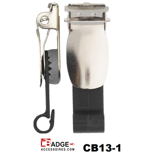 Badgeclip bretel-klem Excellent zwart